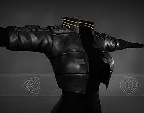 3D model Woman Cyberpunk Jacket