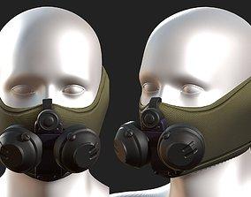 low-poly Gas mask respirator scifi futuristic 3d model
