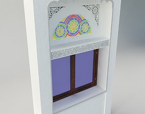 Qamaria stained glasses and Yemeni classic window 3D asset