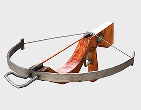 3D asset Low Poly PBR Crossbow