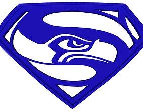 3D Seahawks Superman emblem