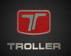 3D model troller logo