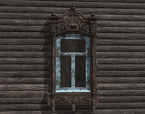 Window wooden platband 3D model realtime