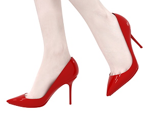 3D model beautiful low poly stiletto high heel