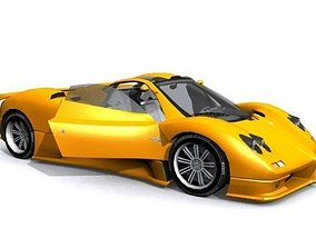 3D model Pagani Zonda Twin Turbo