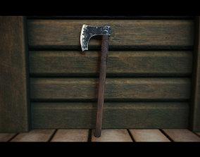 Viking Axe nordic 3D asset game-ready PBR