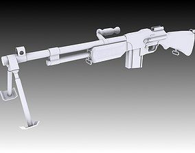 Browning Automatic Rifle 3D asset