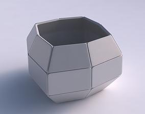 Bowl semi-quadratic with huge plates 3D printable model
