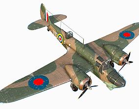 British Light Bomber Bristol Blenheim Mk IV 3D asset