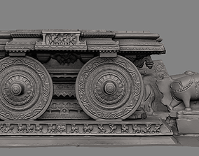 3D printable model Stone Chariot Hampi replica