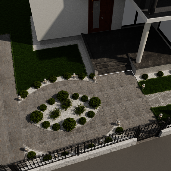 Render,  Yard design