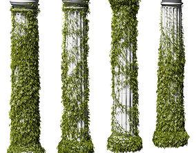 Leaves on the Doric column 3D model
