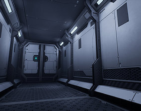 Modular Sci-Fi Environment 3D asset low-poly