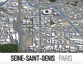 Seine-Saint-Denis - Grand Paris 3D model