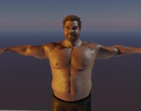 Asian Man Base model 3D animated
