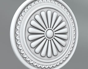 Carved Rosettes Medallions 3D medallions cartouche
