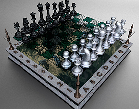 3D model Landscape Chessboard play