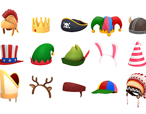 Hats and Helmet Pack 2 3D