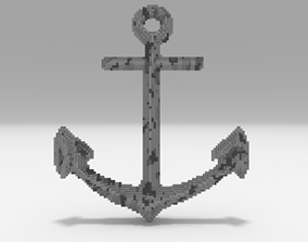 low-poly Voxel - Anchor - Low-poly 3D Model
