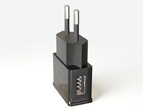 3D model USB charging device photorealistic