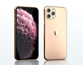iphone 11 pro max gold 3D model