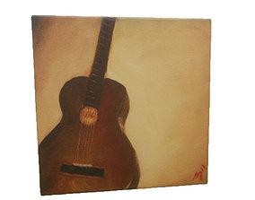 3D model Canvas - Guitar