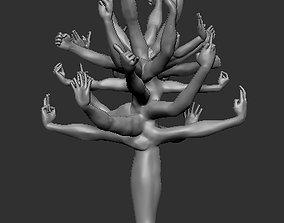 Tree of hands 3D printable model