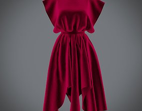 Vintage dress - Female outfit 3D model