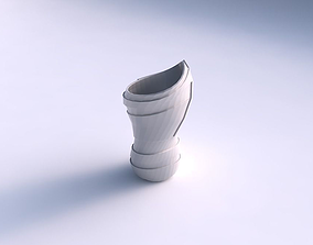 Vase vortex smooth with sharp ribbons 3D printable model