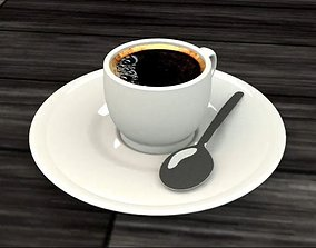 Coffee cup 3D model realtime