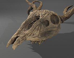 Stag Skull 3D