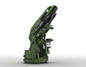 Modern Mortar System 3D asset