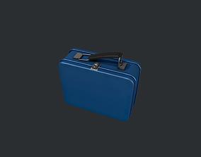 3D model Blue Tin Lunchbox