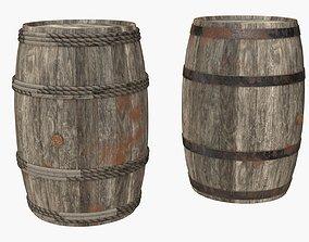 Wooden Barrels Assets 4 3D model