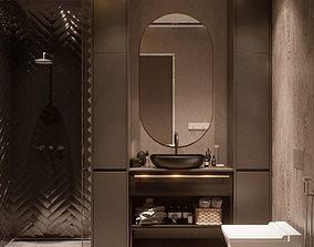 minimalism Bathroom interior 3D model