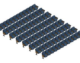 Parametric Audience Seating Array Revit Family 3D model
