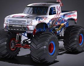 Generic Monster Truck 3D model