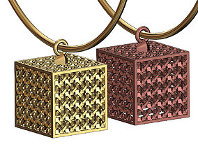 Moucharabieh cube pendant charm 3D printable model
