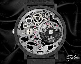 Watch mechanism 3D model stopwatch