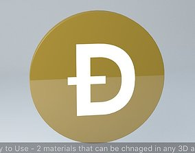Dogecoin Crypto Currency 3D Logo