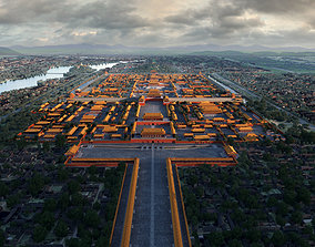 imperial palace forbbiden city Tang Qing Dynasty 3D model