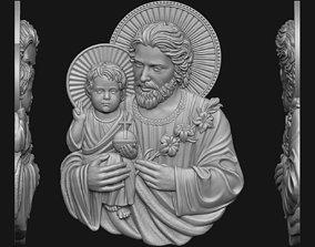 3D printable model Saint Joseph with baby Jesus
