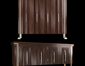 luxury cabinet sofa 3D model