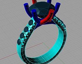 3D print model Solitaire Round diamond Anello solitario 1