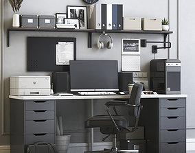 3D IKEA office workplace 5