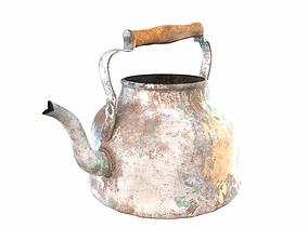 Old enamel retro kettle 3D model