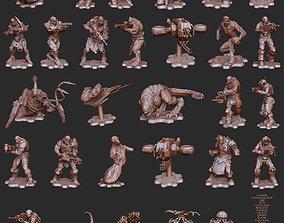 Enemy Set Gears of War 4 3D Model STL File 3D Print
