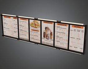 3D model SAM - Fast Food Menu Overhead 02 - PBR Game Ready