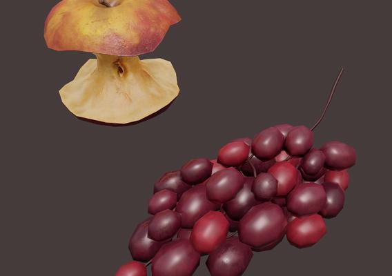Apple core grapes