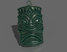tiki mask pendant 3D print model
